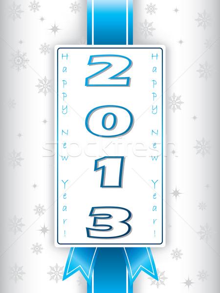 2013 nuovo anni biglietto d'auguri etichetta neve Foto d'archivio © vipervxw