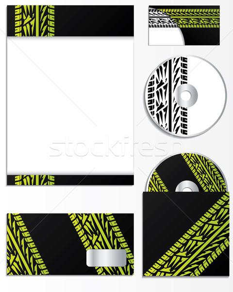 Company vector design with tire tracks  Stock photo © vipervxw