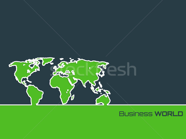 Simplistic brochure with outlined map Stock photo © vipervxw
