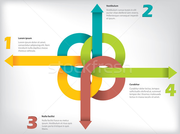 Infographic  with arrow ribbons and details Stock photo © vipervxw