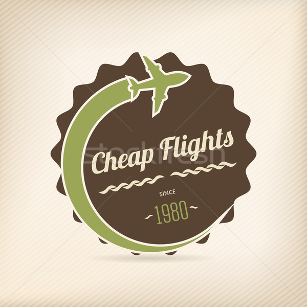 Cheap flights badge Stock photo © vipervxw