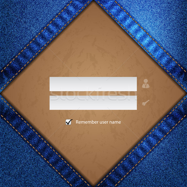 Farmernadrág grunge címke bejelentkezés képernyő weboldalak Stock fotó © vipervxw