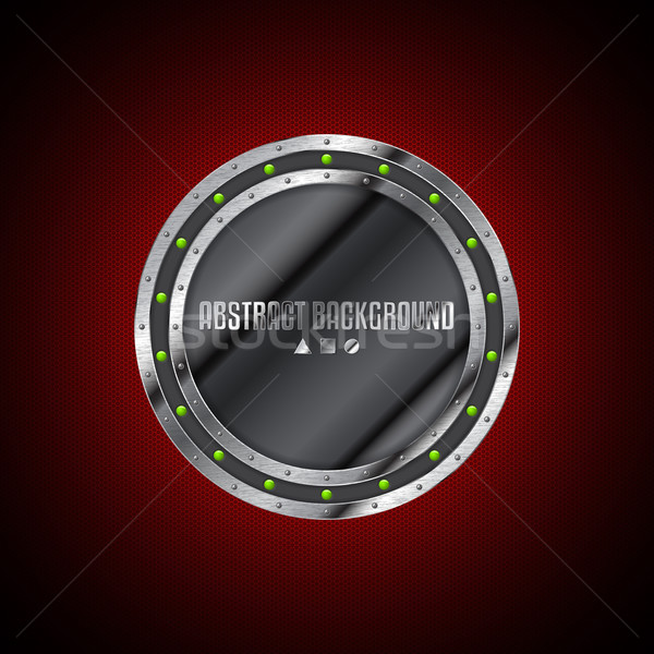 Abstract technology background design with grunge metallic plate Stock photo © vipervxw