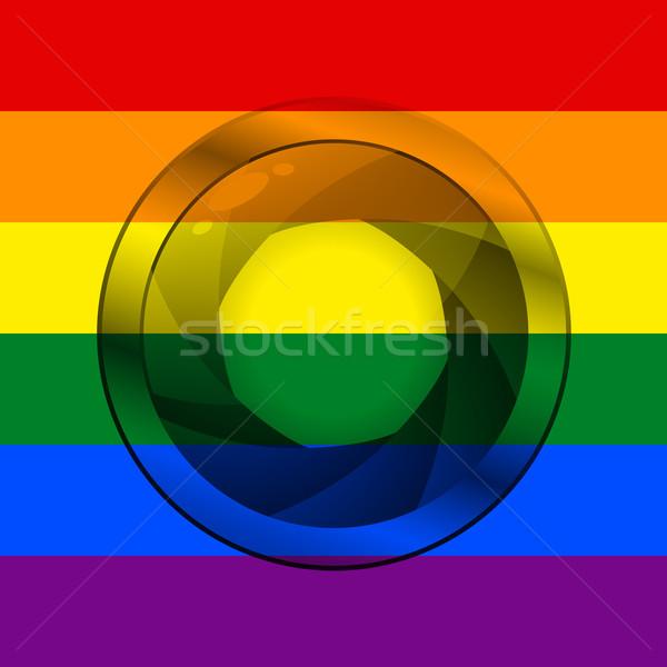 LGBT flag with camera shutter Stock photo © vipervxw