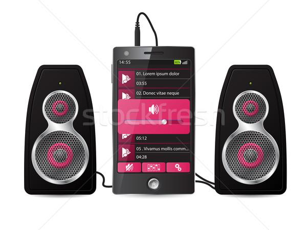 Estéreo orador establecer teléfono jugando música Foto stock © vipervxw