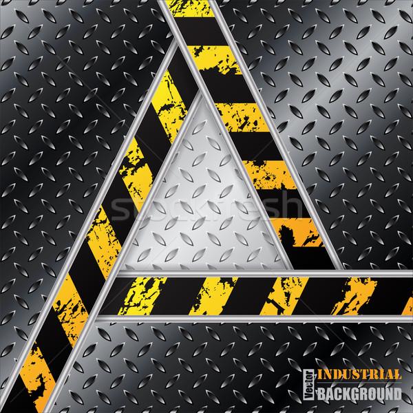 抽象的な 黒 メタリック プレート 三角形 グランジ ストックフォト © vipervxw