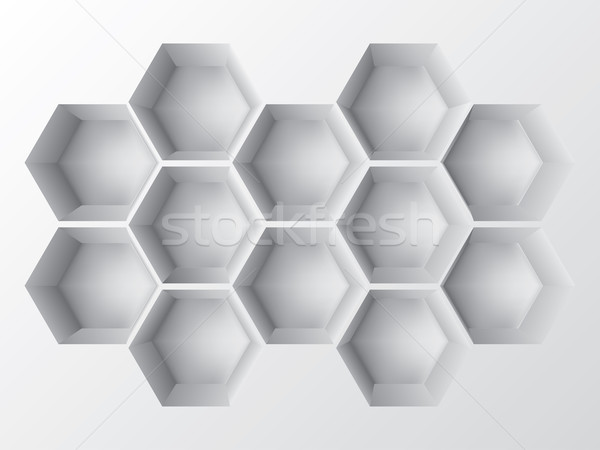 Abstract 3d shelf Stock photo © vipervxw