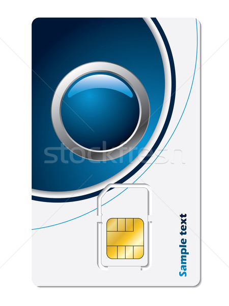 Sim card with abstract design Stock photo © vipervxw