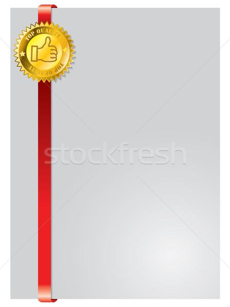 Photo stock: Brochure · modèle · de · conception · sceau · cadre · magasin · imprimer