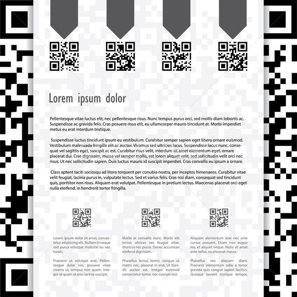 Qr coded website template design Stock photo © vipervxw