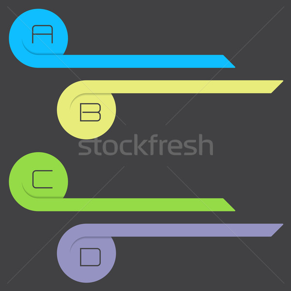 Curling arrow infographic with alphabet options Stock photo © vipervxw