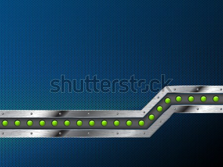 Abstract industrial background design with grunge metallic bar Stock photo © vipervxw