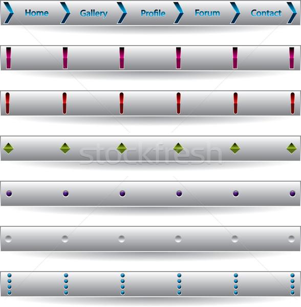 Testreszabható gomb bár internet weboldalak világ Stock fotó © vipervxw