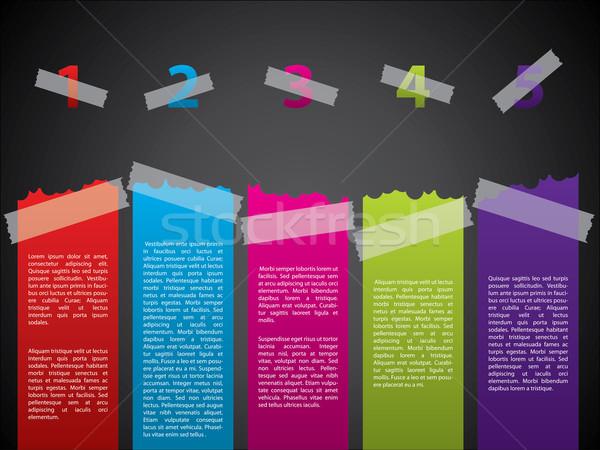 Etykiety zestaw kolorowy numery internetowych sklep Zdjęcia stock © vipervxw