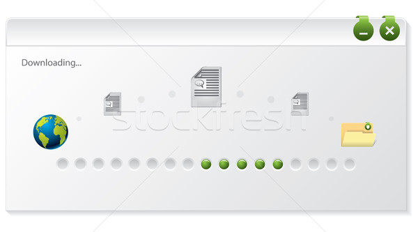 файла скачать прогресс индикатор окна дизайна Сток-фото © vipervxw