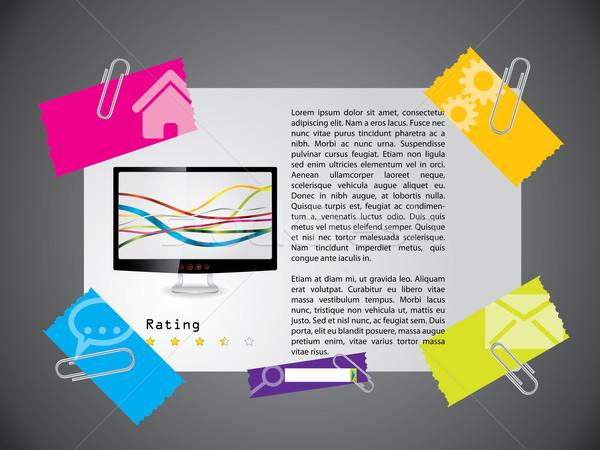 ウェブサイト テンプレート デザイン 製品 説明 ウェブ ストックフォト © vipervxw