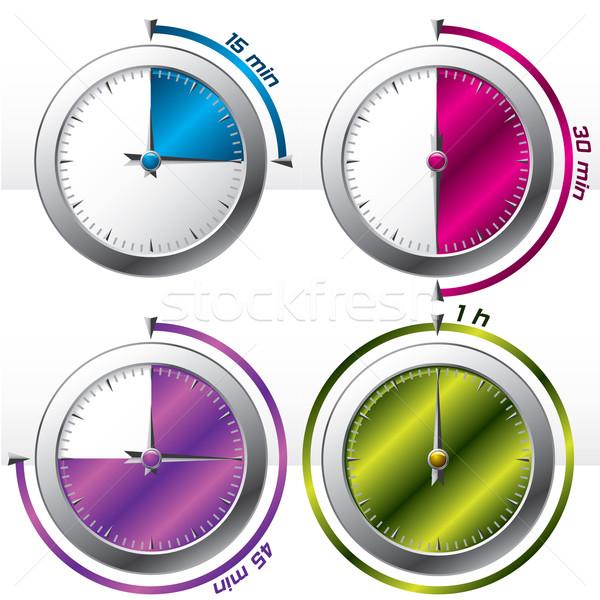 Colore display ufficio sfondo segno Foto d'archivio © vipervxw