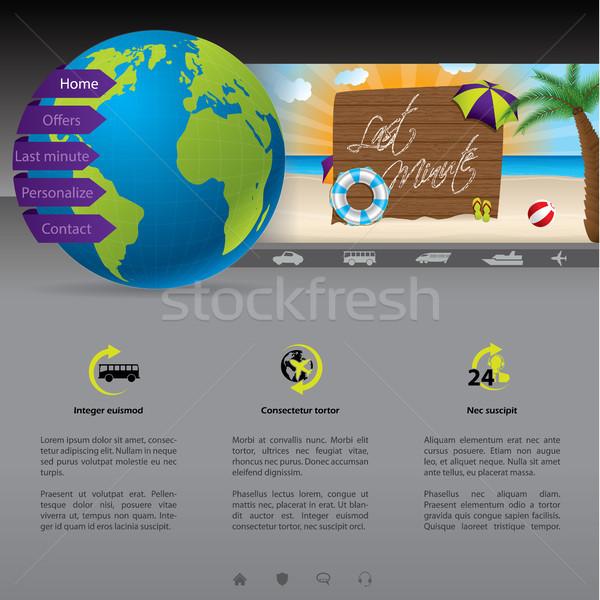 ウェブサイト テンプレート 最後 分 提供 いい ストックフォト © vipervxw