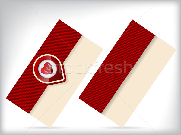 Business card with heart symbol Stock photo © vipervxw