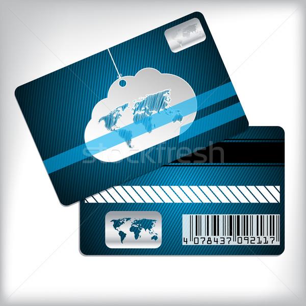 忠誠心 カード 雲 縞模様の ビジネス ストックフォト © vipervxw