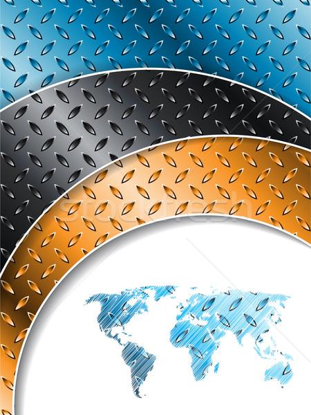 Ipari színes fémes tányérok terv térkép Stock fotó © vipervxw
