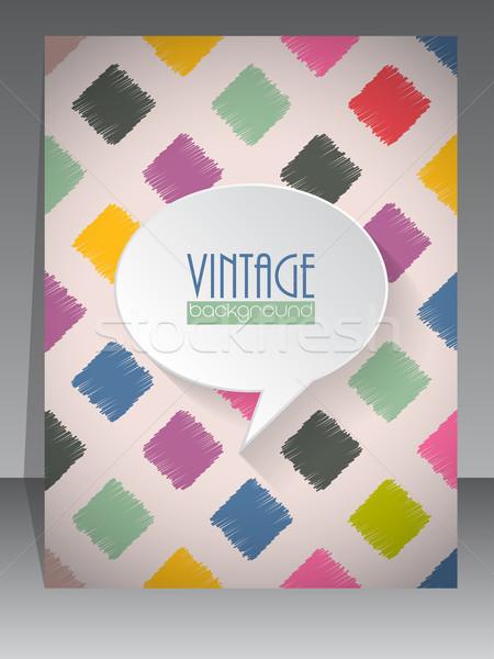 Cool vintage retro scrapbook coprire design Foto d'archivio © vipervxw