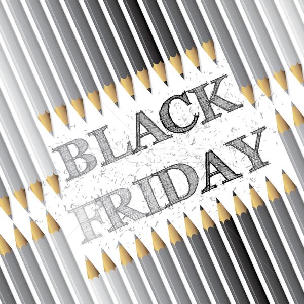 Black friday publicidade lápis texto projeto negócio Foto stock © vipervxw