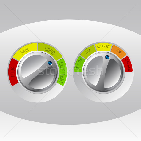 Rating meter design set of two Stock photo © vipervxw
