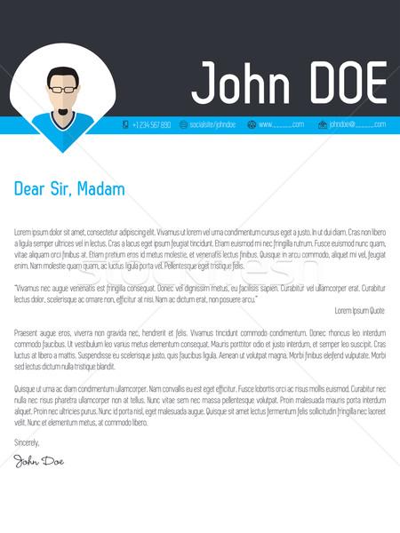 Modern borító levél önéletrajz cv sablon Stock fotó © vipervxw