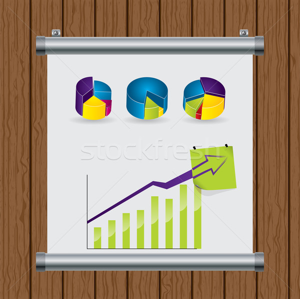 Roll up display nailed to the wall Stock photo © vipervxw