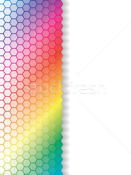 Fading hexagons in rainbow background  Stock photo © vipervxw