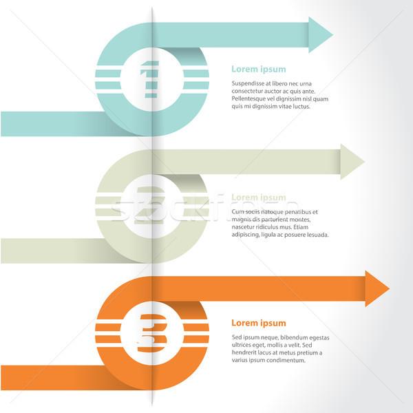 Curling arrows infographic design set Stock photo © vipervxw