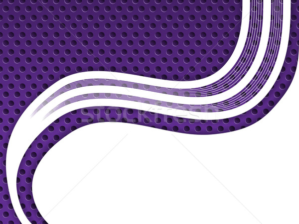 Abstract purple background with white waves Stock photo © vipervxw