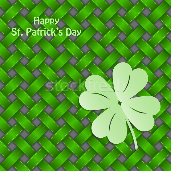 Shamrock sem costura verde textura primavera feliz Foto stock © vipervxw