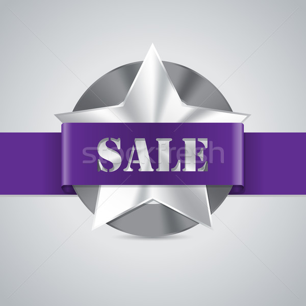Star shaped metallic sale badge Stock photo © vipervxw