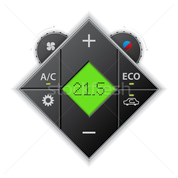 車 自動 ゲージ 液晶 緑 ストックフォト © vipervxw
