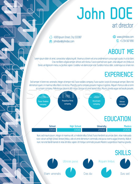Cool cv template design with arrows Stock photo © vipervxw