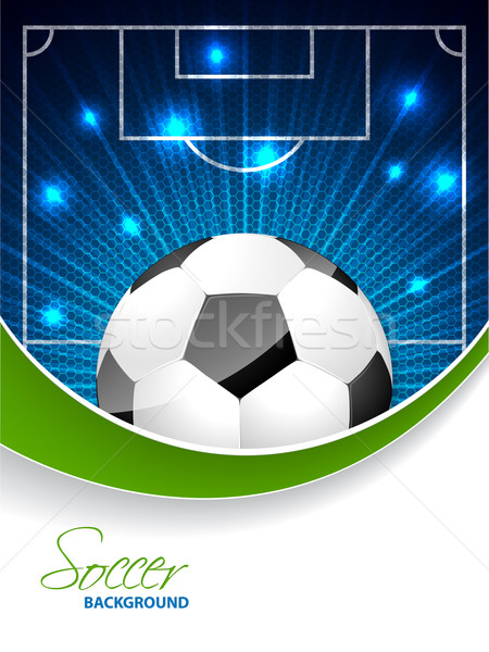 Abstract soccer brochure with bursting ball and space for text Stock photo © vipervxw