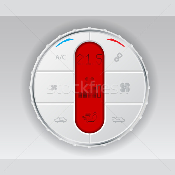 Digital air conditioning control panel in white Stock photo © vipervxw