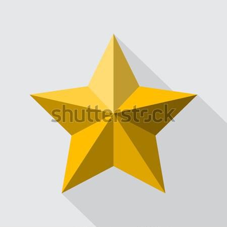 Star stile stella cadente design ombra Foto d'archivio © vipervxw