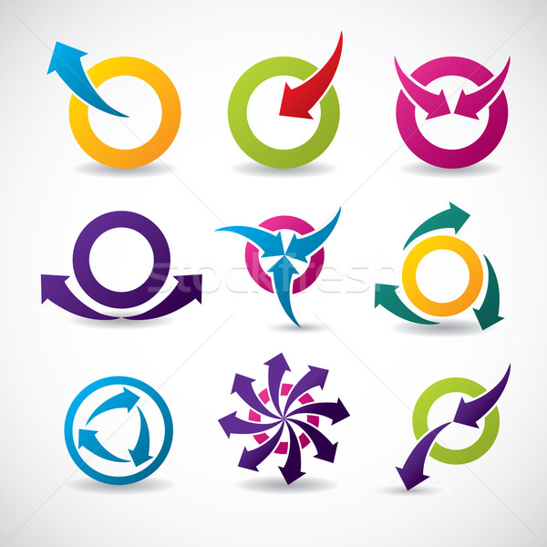 Abstract icon set Stock photo © vipervxw