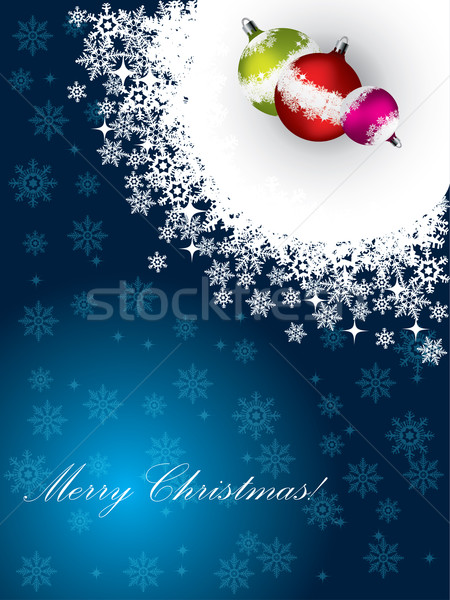 Christmas greeting card with decorations  Stock photo © vipervxw