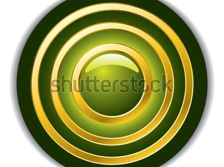 зеленый аннотация дизайна кнопки золото ряби Сток-фото © vipervxw