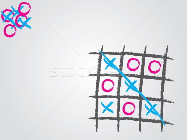 Lábujj minta terv játék oktatás fekete Stock fotó © vipervxw