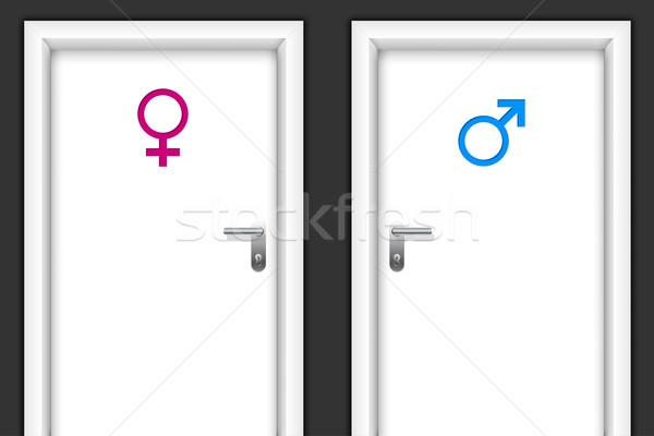 Restroom doors with gender symbols Stock photo © vipervxw
