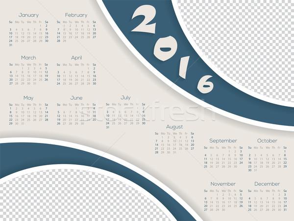 календаря шаблон фото контейнера 2016 дизайна Сток-фото © vipervxw
