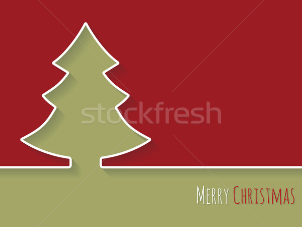 Simplistic christmas greeting with white tree Stock photo © vipervxw