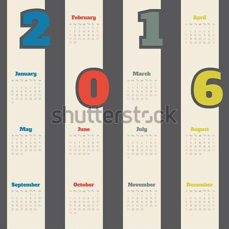 устрашающий календаря двери дизайна год Сток-фото © vipervxw