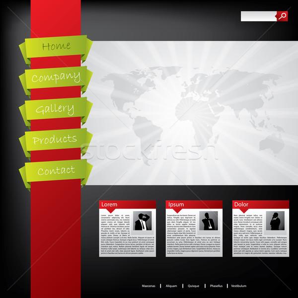 ウェブサイトのデザイン クール 色 ウェブサイト テンプレート デザイン ストックフォト © vipervxw