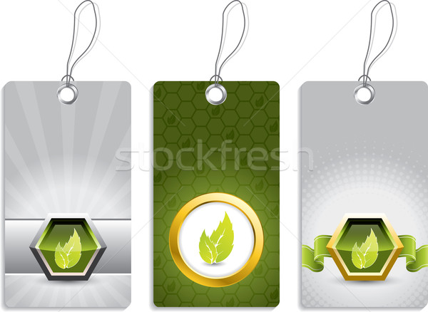 Ecological label designs Stock photo © vipervxw